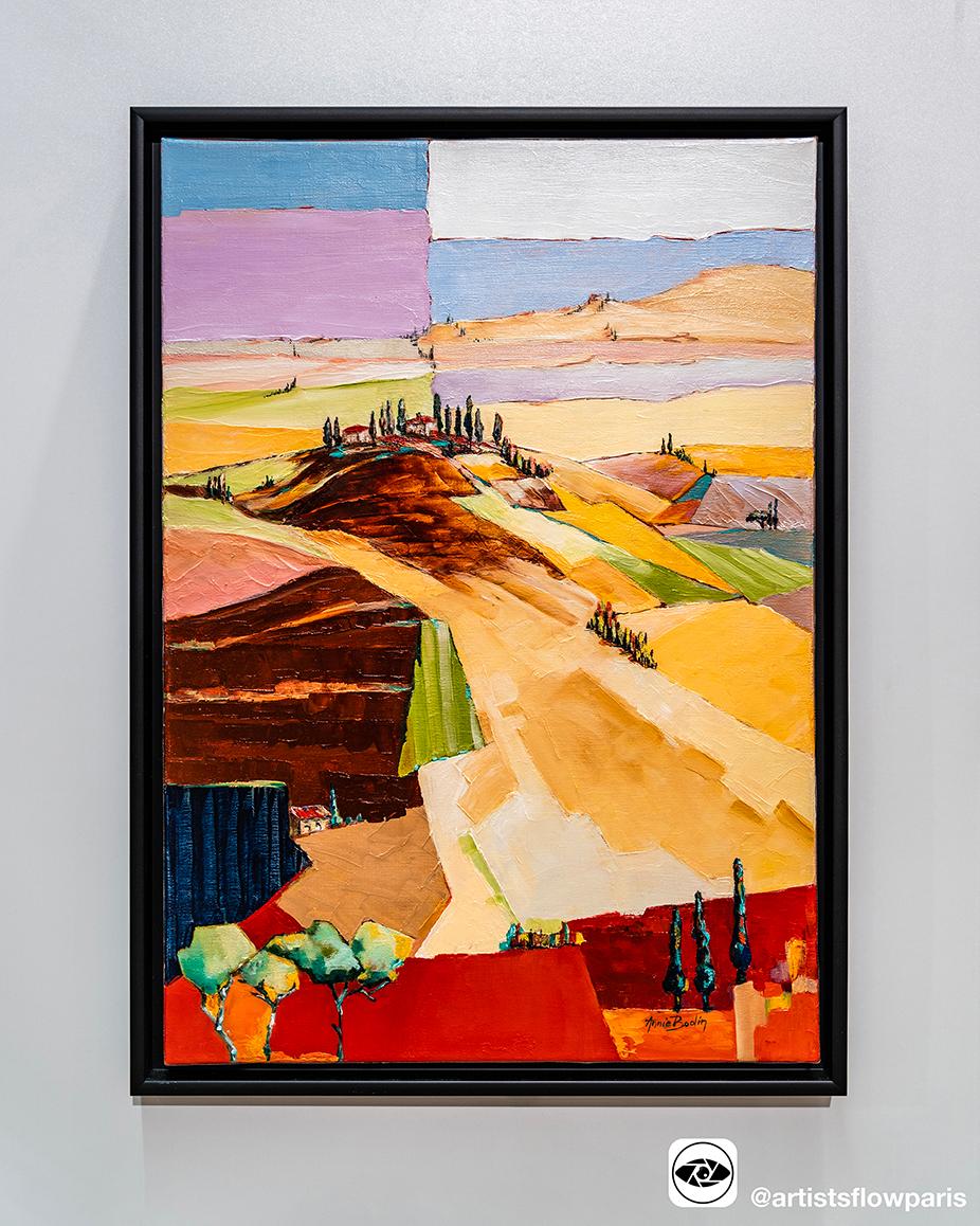 巴黎当代画家Annie BODIN的独特乡村风情,作品《田野》赏析