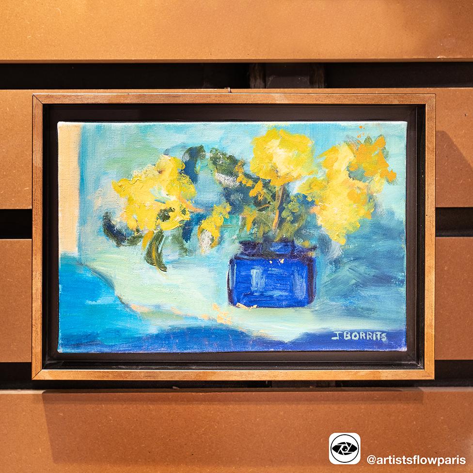 巴黎艺术家Jeanne BORRITS同时体现创造力,年轻与怀旧的油画